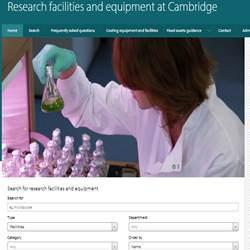 Equipment Database at: Cambridge Equipment Sharing Database